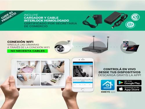 Cámaras de Seguridad x4 + NVR Gadnic SX24 Interior / Exterior IP WiFi