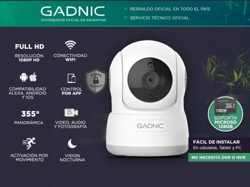 Cámara de Seguridad Gadnic SX10 IP WiFi Motorizada con Audio HD Visión
