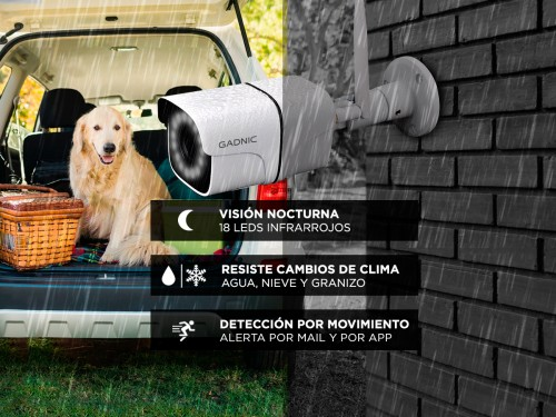 Cámaras de Seguridad Gadnic Kit x 2 WiFi IP Exterior / Interior Bullet