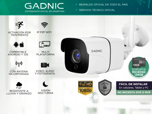 Kit Camaras de Seguridad Gadnic IP Wifi Exterior x3