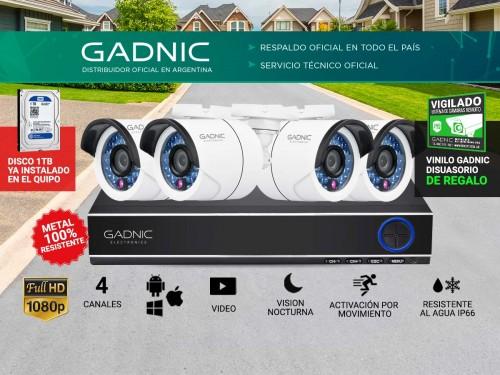 Cámaras de Seguridad x4 + DVR Gadnic SX38 Interior / Exterior IP CCTV