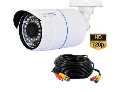 Camara Bullet CCTV Hd 720P Vision Nocturna Incluye Cables Video y Dc
