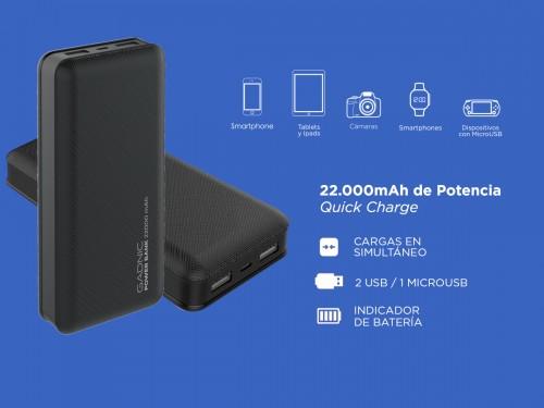 Power Bank Gadnic 22000 mah Energy Power Celular Tablet Smartphones