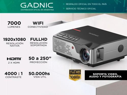 Proyector Gadnic Starpro WiFi 7000 Lúmenes HDMI x2 USB VGA