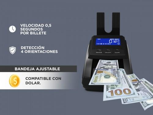 Detector De Billetes Falsos en 4 Orientaciones Dolares