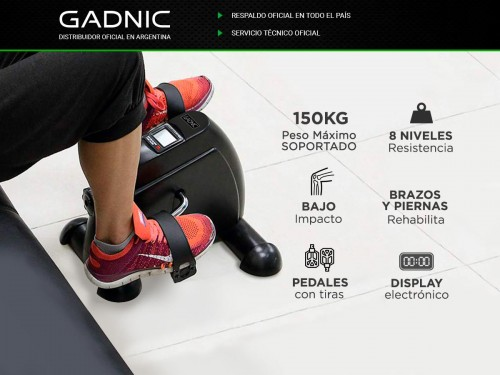 Bicicleta Fija Gadnic Mini Pro 150kg 8 Niveles Ideal Rehabilitación