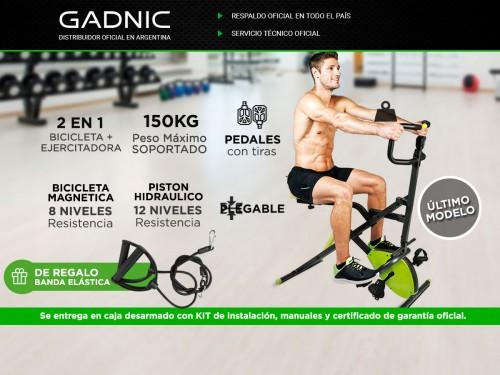 Bicicleta Magnética Gadnic Extreme Pro 2en1 con Ejercitador Para Abdom