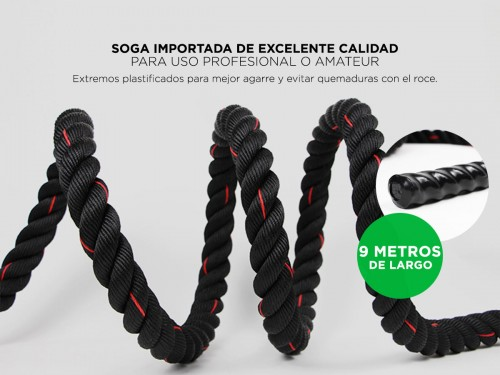Soga De Entrenamiento Gadnic Battle Rope 50mm x 9 Mts
