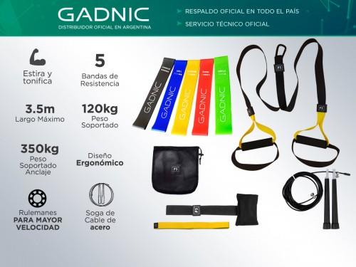 Kit Banda de Suspension P3 Pro  + Bandas de Resistencia + Soga Gadnic