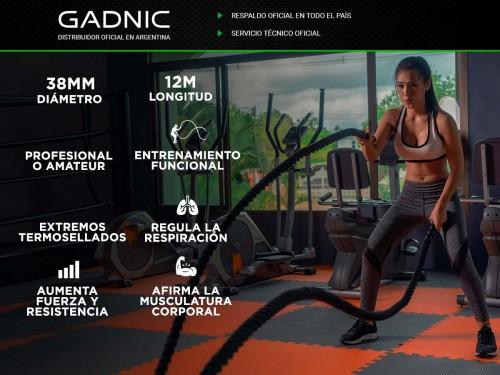 Soga De Entrenamiento Gadnic Battle Rope 38mm x 12 Mts