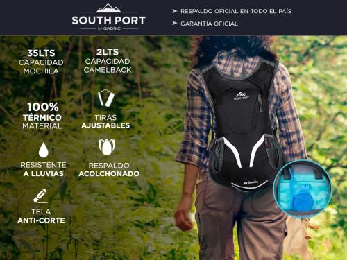 Mochila Southport Camelback 35lts + Bolsa de Agua 2lts