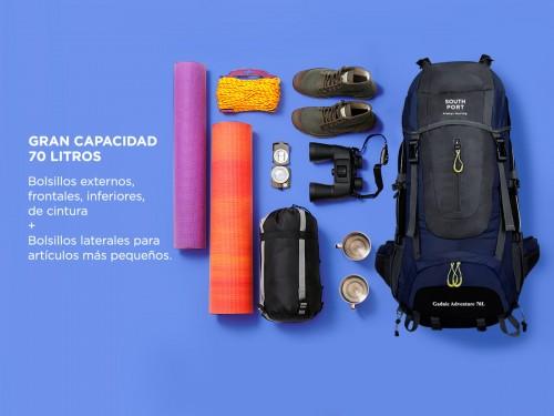 Mochila de Mochilero South Port By Gadnic 70Lt Ideal Camping Trekking