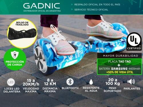 Patineta Electrica Bluetooth Gadnic + Bolso