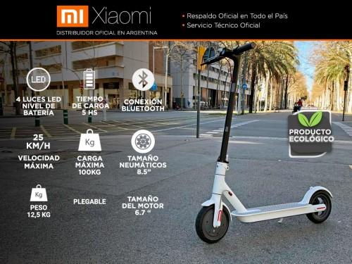 "Monopatín Eléctrico Xiaomi M365 100kg 25km/h Ruedas Inflables 8,5"" Blu"