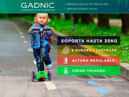 Monopatín Gadnic Infantil Reforzado 4 Ruedas Hasta 30kg