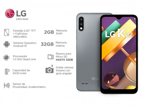 Celular LG K22 Titanium 32Gb 2Gb Ram 6,2 HD Quad Core