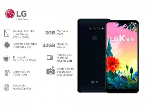 "Celular LG K50s Libre de Fábrica 6,5"" HD FullVision 3gb OctaCore Lecto"
