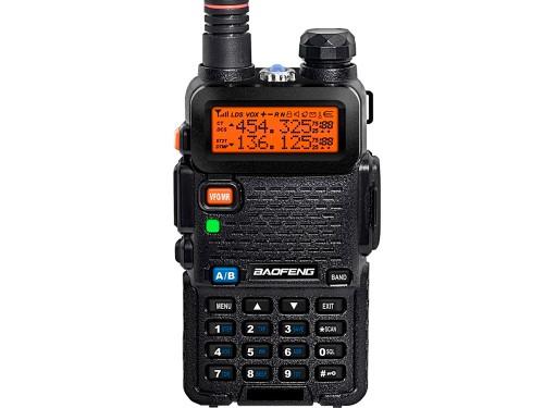 Handy Baofeng UV-5R Bi-Banda 5w 128CH Hasta 10km + 2 Baterías y Manos
