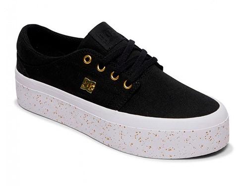 Zapatillas Mujer Urbanas Negras Skate Plataforma DC Shoes Trase