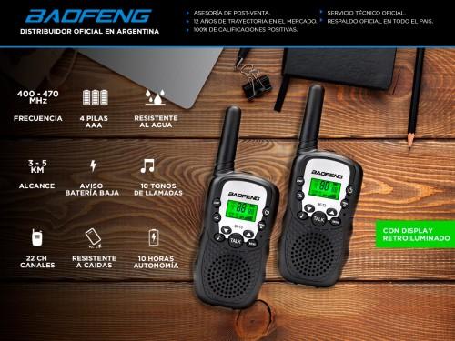 Handy Baofeng BF-T3 Kit x2 22CH c/ Display Retroiluminado y Linterna I