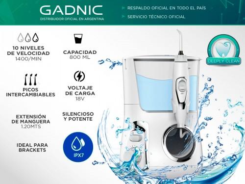 Irrigador Bucal Gadnic AP100 120psi 800ml 10 Velocidades con Set de Bo