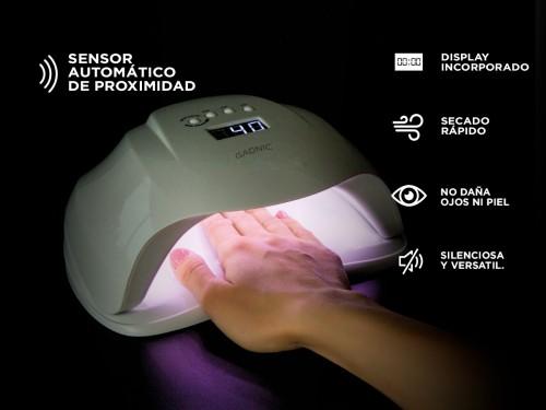 Kit Para Uñas Gadnic Torno T206 + Cabina UV Ledsun Plus Uso Profesiona