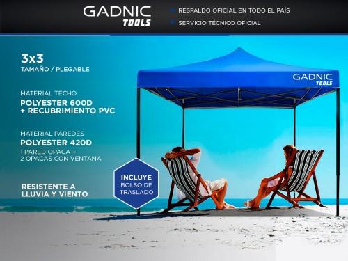 Gazebo Gadnic 3X3-M Plegable 3x3 Reforzado Paredes con Ventana Ideal P