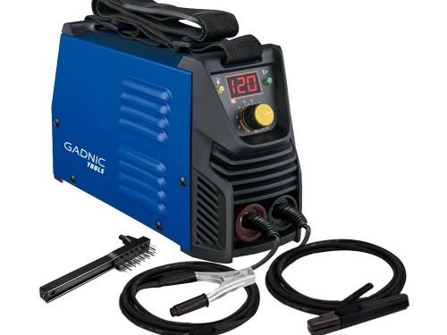 Soldadora Inverter Gadnic Tools SI120 Eléctrica 120 Amp 3000w + Máscar