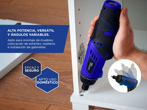 Atornillador a Batería Gadnic Tools D5 Pro Inalámbrico 3,6v Litio + Ac