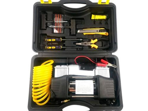Compresor 12v Portátil 85Lt/min 150psi Doble Pistón Inflador Multiprop