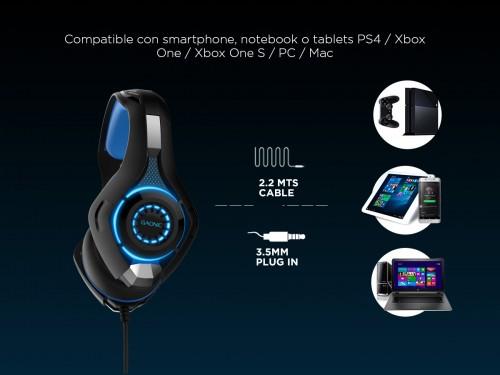 Auriculares Gadnic A500 GO Gamer Compatible Consolas