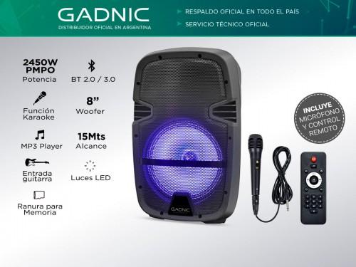 Parlante Gadnic Live Studio XBS12 Bluetooth 2450w Función Karaoke