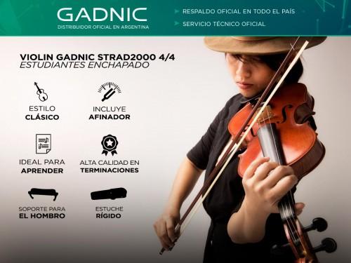 Violin Gadnic STRAD2000 4/4 Estudiantes Enchapado + Estuche + Afinador