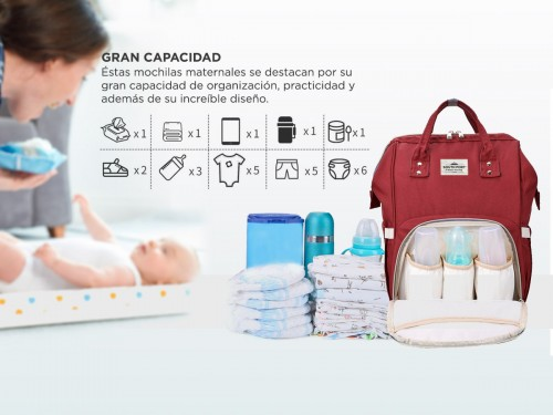 Bolso Maternal South Port S46 By Gadnic Porta Mamaderas Térmico