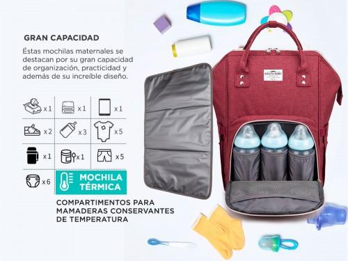 Bolso Maternal South Port S47 By Gadnic con Cambiador Mochila Porta Ma