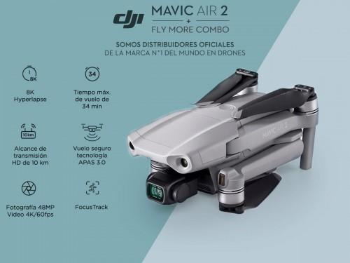 Drone DJI Mavic Air 2 Fly More Combo c/ Cámara 4K 48Mpx HDR Vuelo Segu