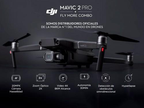 Drone DJI Mavic 2 Pro Fly More Combo Cámara Hasselblad 4K 3 Ejes Senso