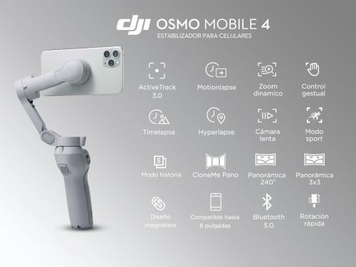 Estabilizador DJI Osmo Mobile 4 Videos Y Fotos Función Panorámica Dise