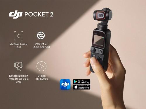 Cámara DJI Osmo Pocket 2 Estabilizador Mecánico de 3 Ejes 4K 60fps
