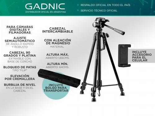 Trípode GADNIC TRIPODE4 Aluminio Regulable
