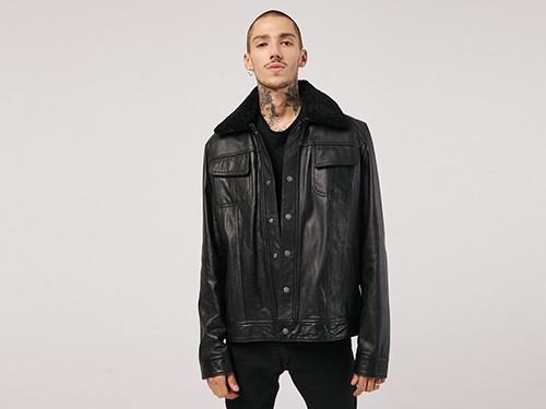 Campera de hombre Leather Jacket Aviadora Honky Tonk