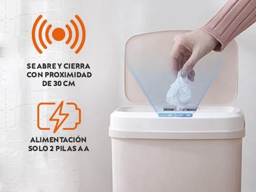 Cesto tacho de basura inteligente automatico con sensor 15Lts.