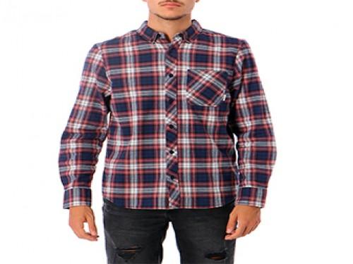 Camisa Lumber Classic LS Bordo Manga Larga