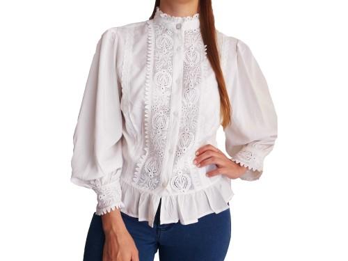 Camisa de Mujer Bordadas Broderie Románticas