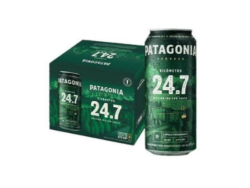 Cerveza Patagonia 24.7 473ml x 6un