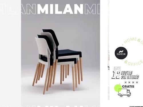 Pack x 4 Sillas Milán BAIRES4