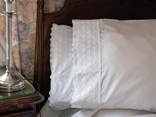 Fundas De Almohada Blancas 50x70cm Broderie Cotton Touch x2 unidades