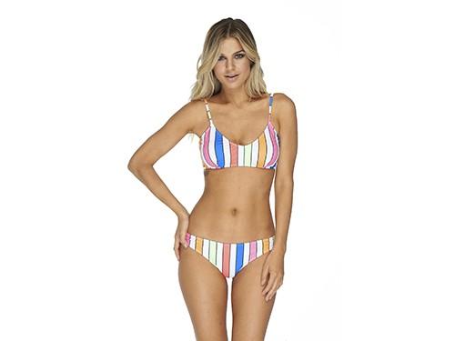Bikini Top bretel fino regulable + Básica Barbados Luz de Mar