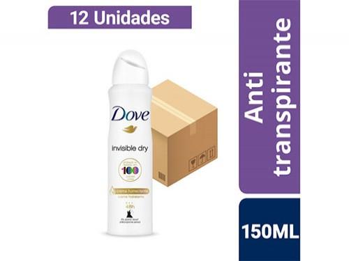 Combo Antitranspirante Dove Invisible Dry Aerosol 150ml 12u