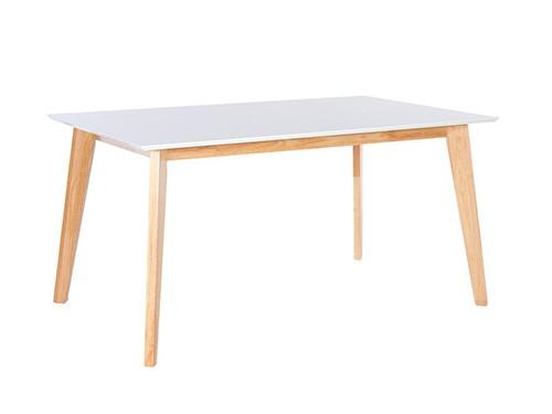 Mesa de Comedor Escandinava Tapa Blanca Cody 150